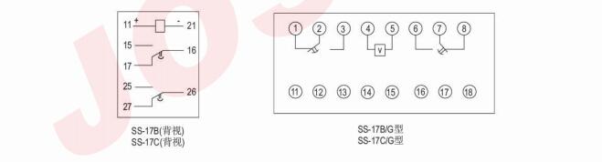 SS-17B时间继电器接线图