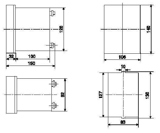 dzb-100q系列中间继电器内部接线图示于图1