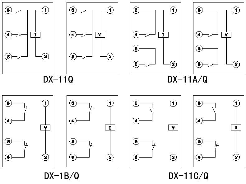 dx-11c/q型继电器具有电磁铁和一付动合,一付动断触点及一个信号牌.