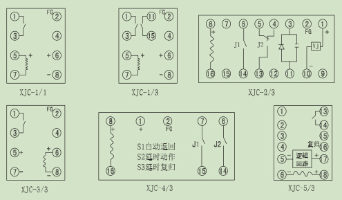 xjc系列集成电路微电流冲击继电器