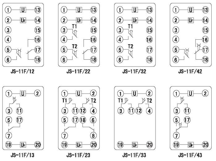 js-11f/13,js-11f/23集成电路时间继电器