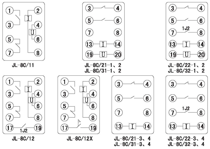 jl-8c/21-3反时限电流继电器