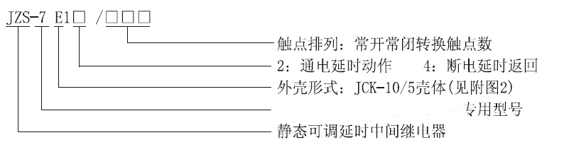 jzs-7e14/20静态可调延时中间继电器资料