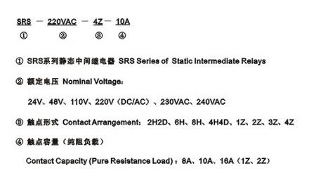 SRS系列静态中间继电器型号规格
