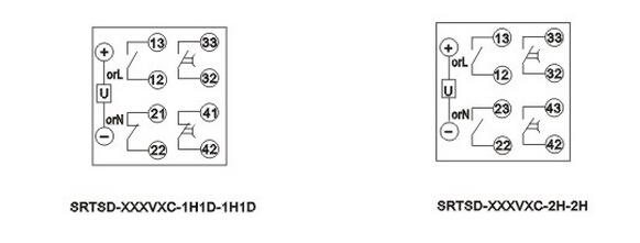 srtsd断电延时带瞬动继电器接线图
