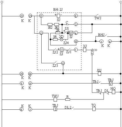 bh-1j重合闸继电器外部接线图